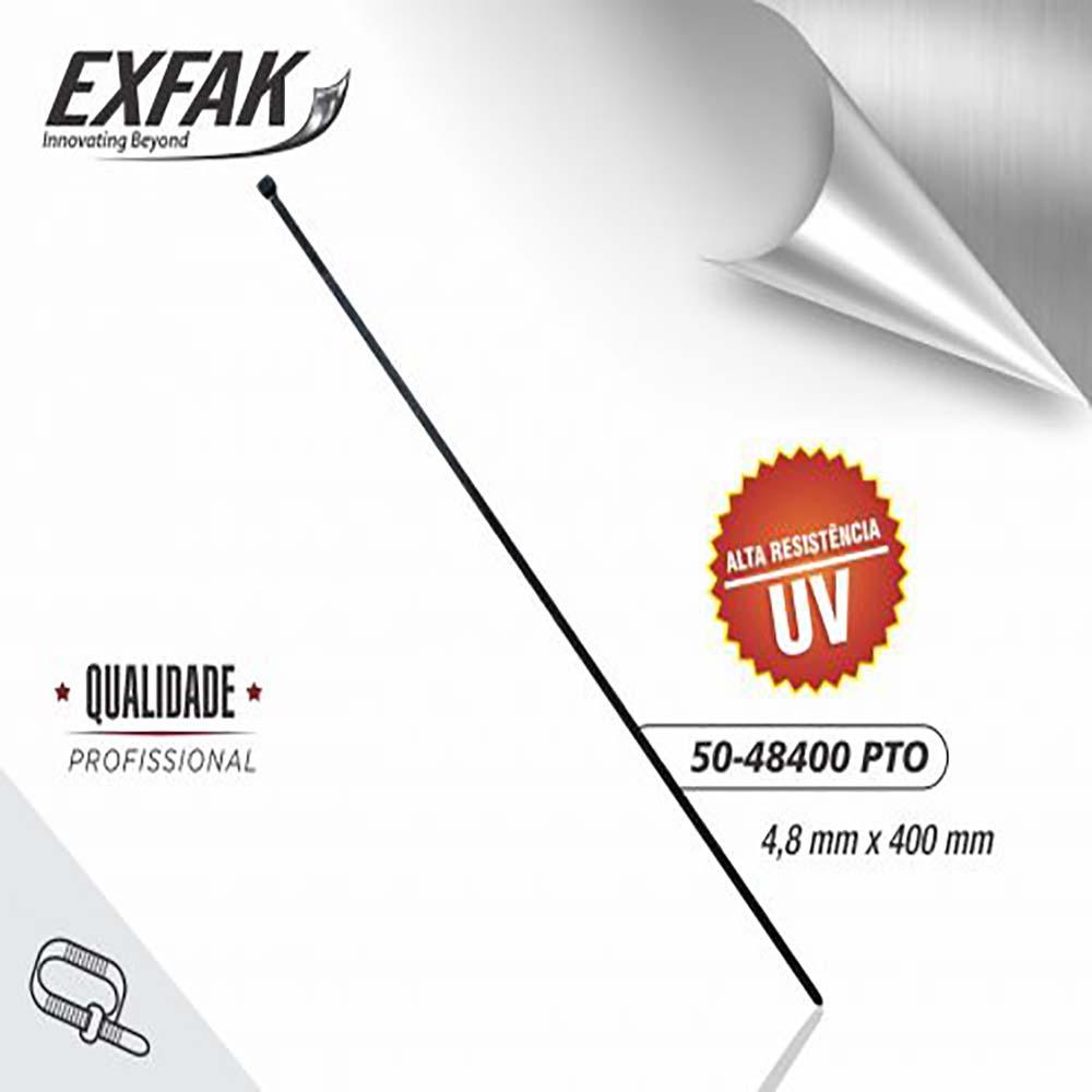 Abraçadeira exfak  4.8x400 uv (c/100) 50-48400 pto