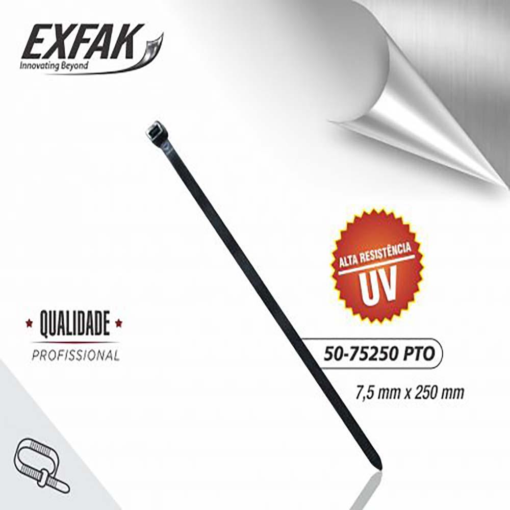 Abraçadeira exfak  7.5x250 uv (c/100) 50-75250 bco