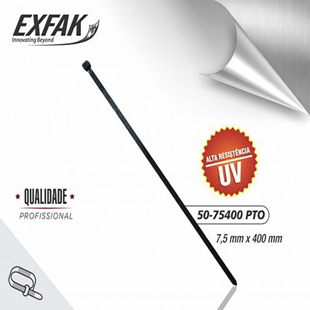 Abraçadeira exfak  7.5x400 uv (c/ 100) 50-75400 pto