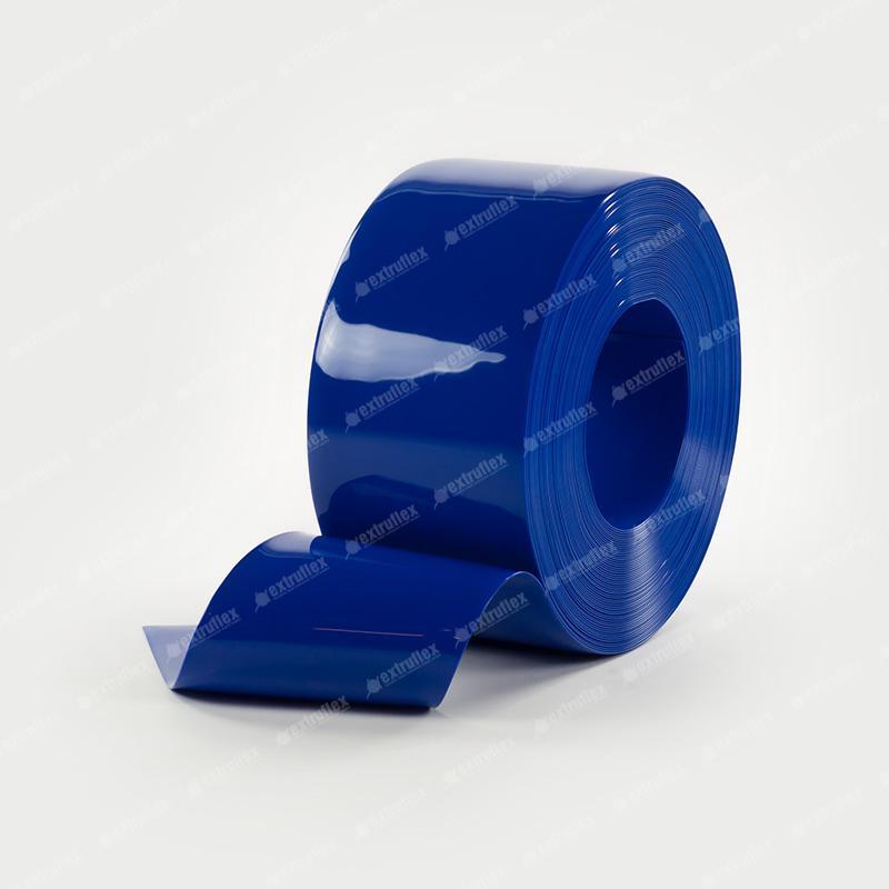 Bobina Pvc Standard Azul Transparente 200mmx2mmx50mts