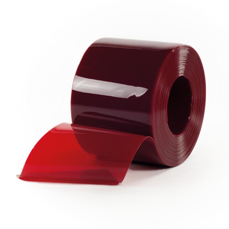 Bobina Pvc Standard Vermelha Transparente 200mmx2mmx50mts