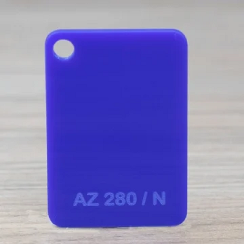 Chapa Acrilico Cast Azul 10mmx1000mmx2000mm az280