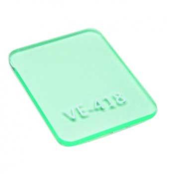 Chapa acrílico cast verde VE-418 2mmx1000x2000mm