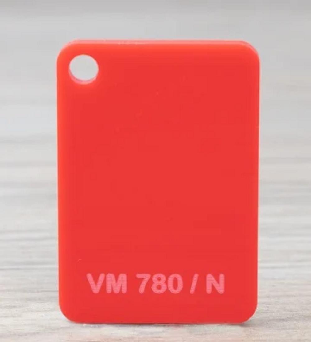 Chapa Acrilico Cast Vermelho 4mmx1000mmx2000mm vm780