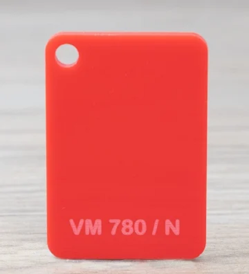 Chapa Acrilico Cast Vermelho 6mmx1000mmx2000mm vm780