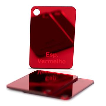 Chapa Acrilico Espelhada Vermelho 2mmx1000mmx2000mm