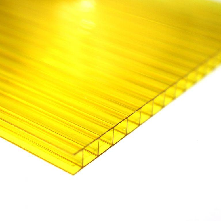 Chapa de Policarbonato Alveolar Amarelo 4mmx1050mmx6000mm