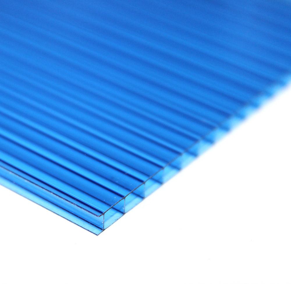 Chapa de Policarbonato Alveolar Azul 6mmx1050mmx6000mm