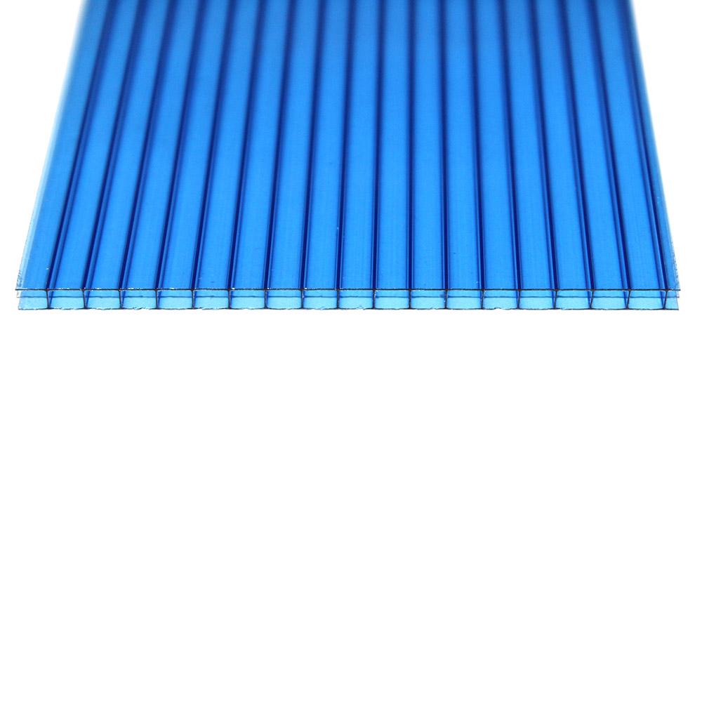 Chapa de Policarbonato Alveolar Azul 6mmx2100mmx6000mm