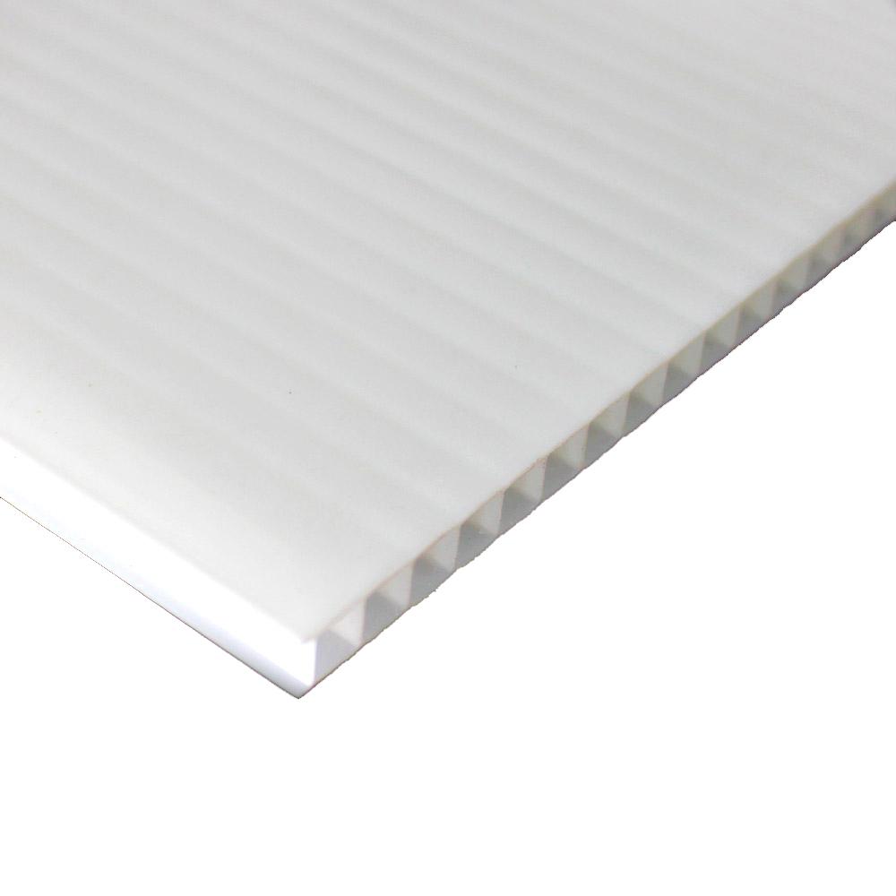 Chapa de Policarbonato Alveolar Branco 6mmx2100mmx6000mm