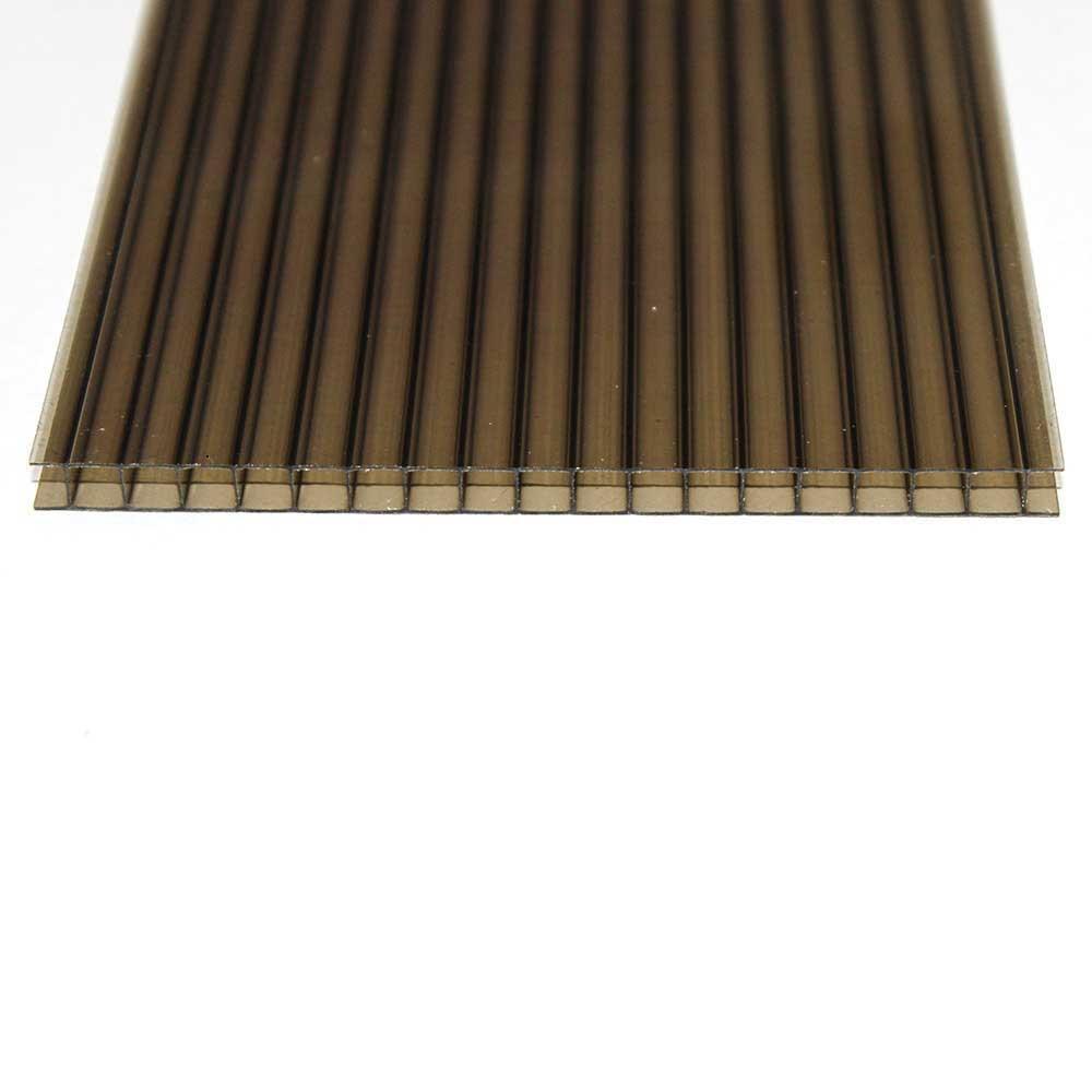 Chapa de Policarbonato Alveolar Bronze 10mmx1050mmx6000mm