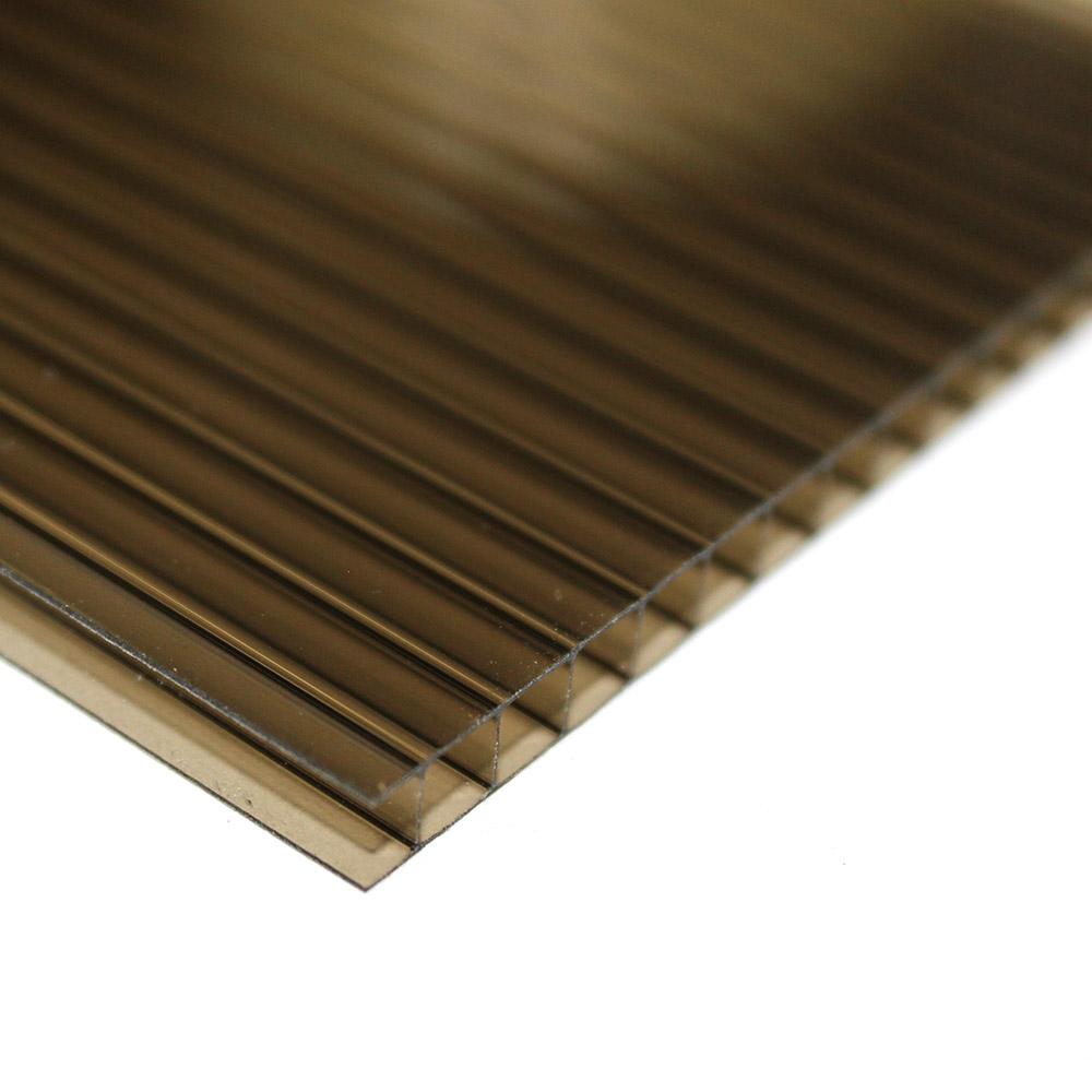 Chapa de Policarbonato Alveolar Bronze 10mmx2100mmx6000mm