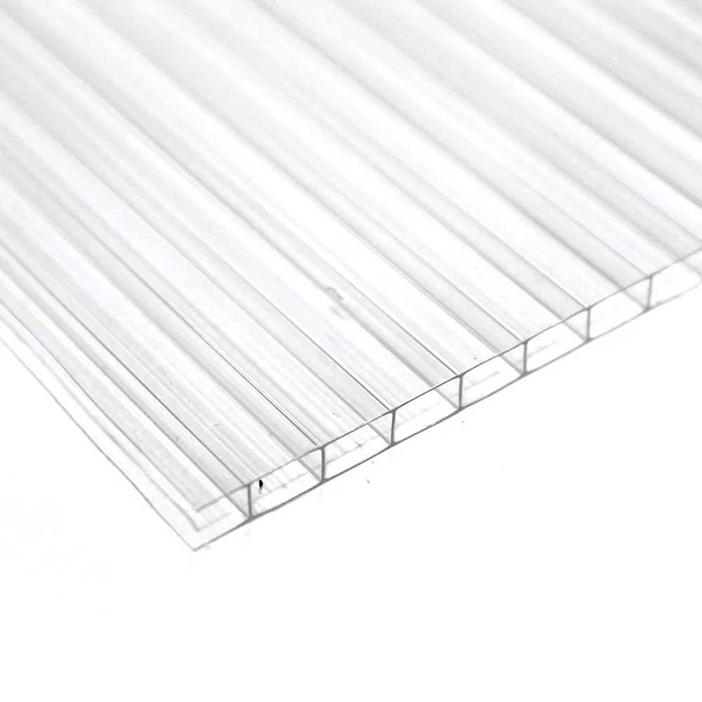 Chapa de Policarbonato Alveolar Cristal 4mmx1050mmx6000mm