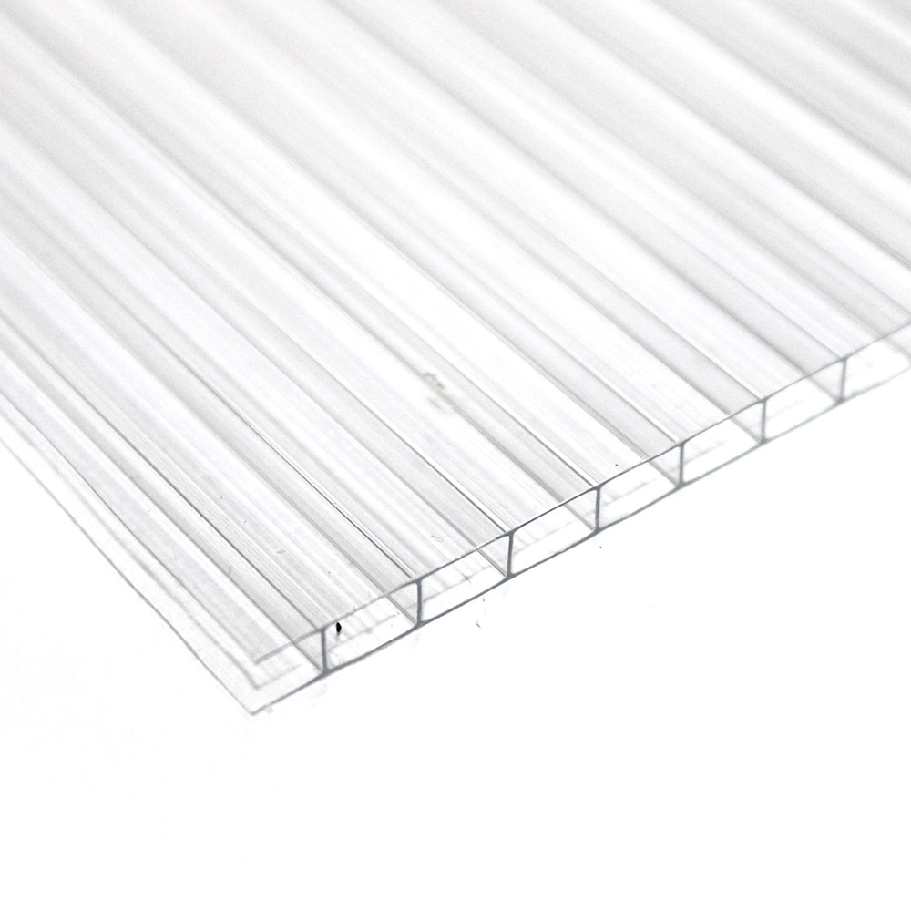 Chapa de Policarbonato Alveolar Cristal 6mmx1050mmx6000mm