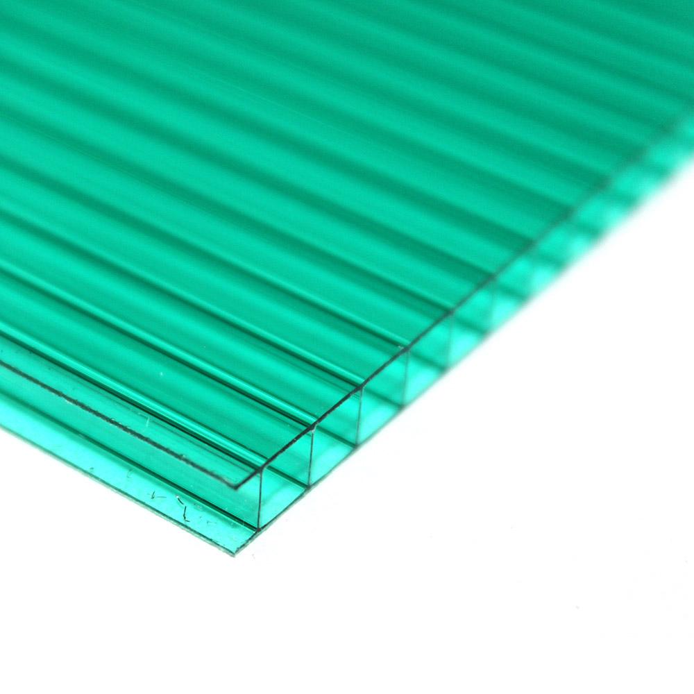 Chapa de Policarbonato Alveolar Verde 10mmx2100mmx6000mm