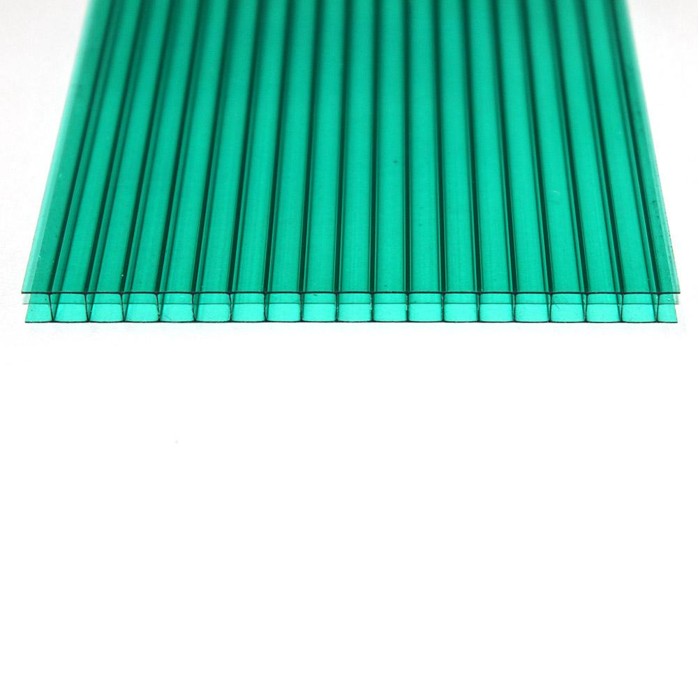 Chapa de Policarbonato Alveolar Verde 6mmx2100mmx6000mm
