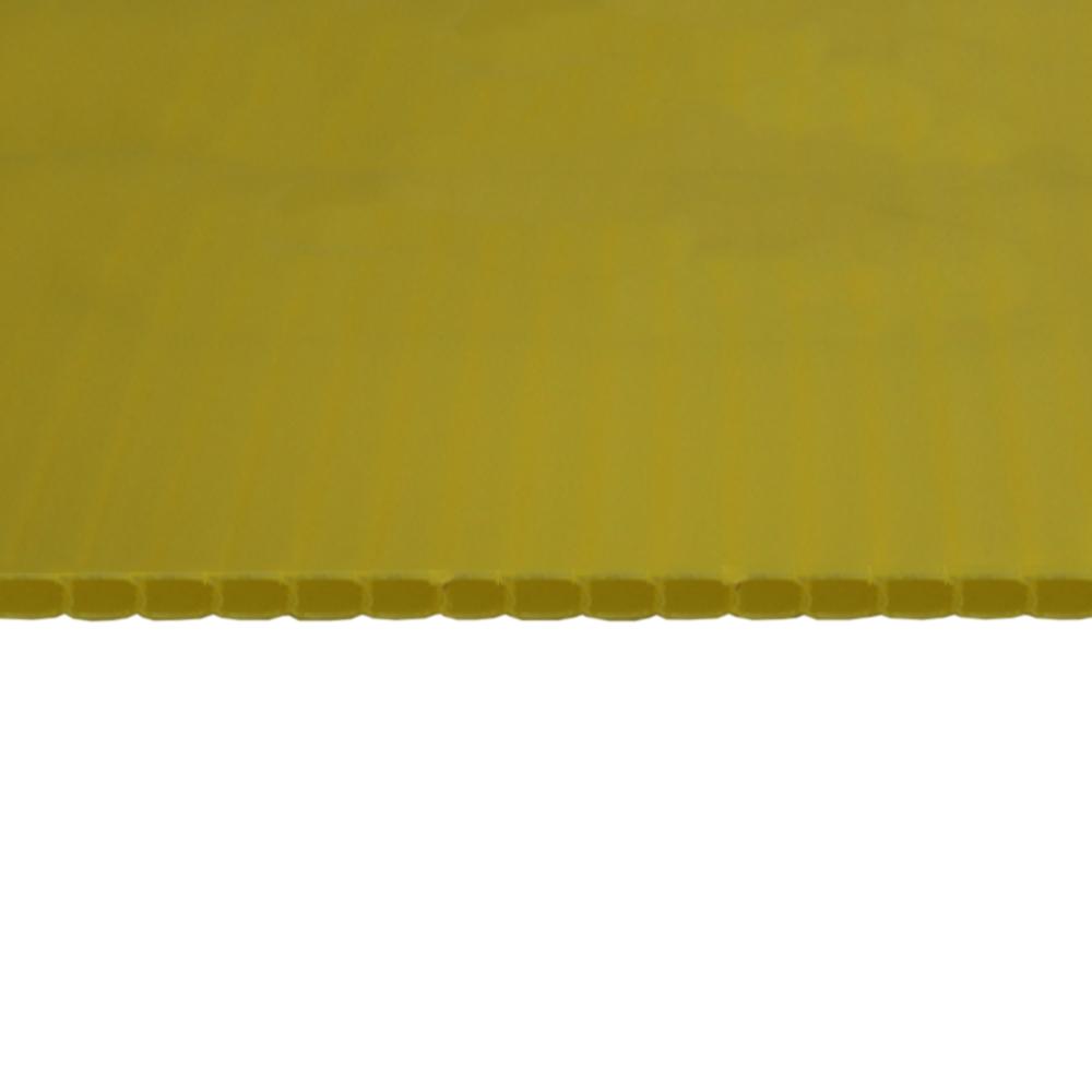 Chapa Plastionda Amarela 4mmx1300mmx2000mm 750gr. m²