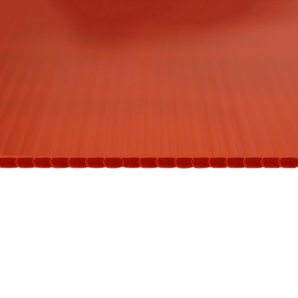 Chapa Plastionda Laranja 4mmx1300mmx2000mm 750gr. m²