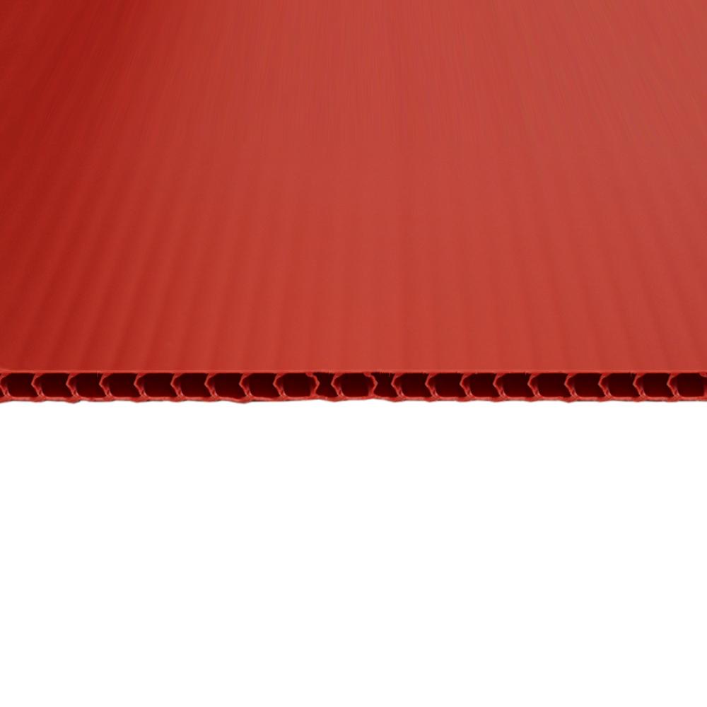 Chapa Plastionda Vermelha 4mmx1300mmx2000mm 750gr. m²