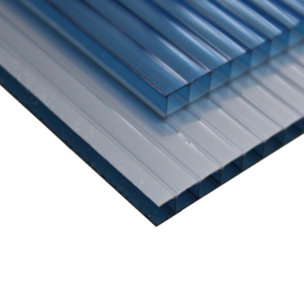 Chapa Policarbonato Alveolar Refletiva Azul 6x1050x6000mm
