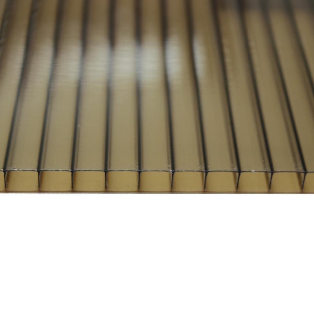 Chapa Policarbonato Alveolar Refletiva Bronze 6x1050x6000mm