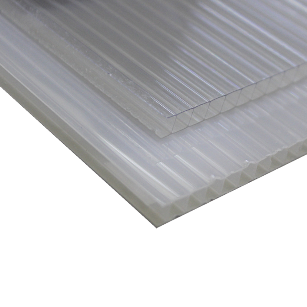 Chapa Policarbonato Alveolar Refletiva Cristal 10x1050x6000mm