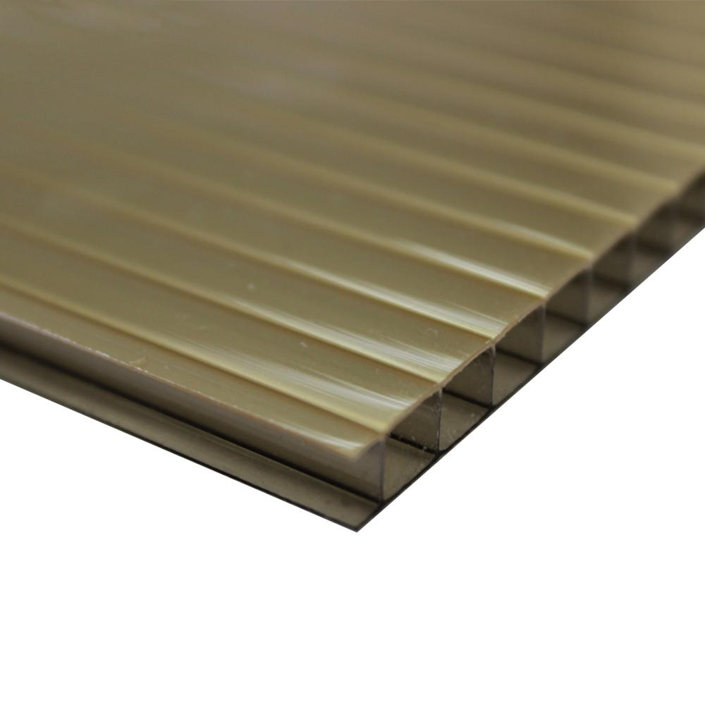 Chapa Policarbonato Alveolar Refletiva Ouro Bronze 10x1050x6000mm