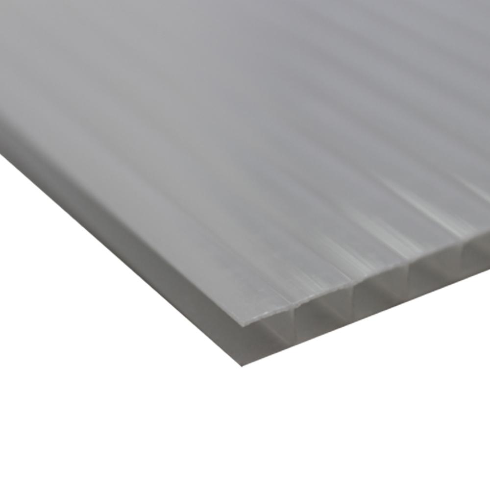 Chapa Policarbonato Alveolar Refletiva Prata 10x1050x6000mm