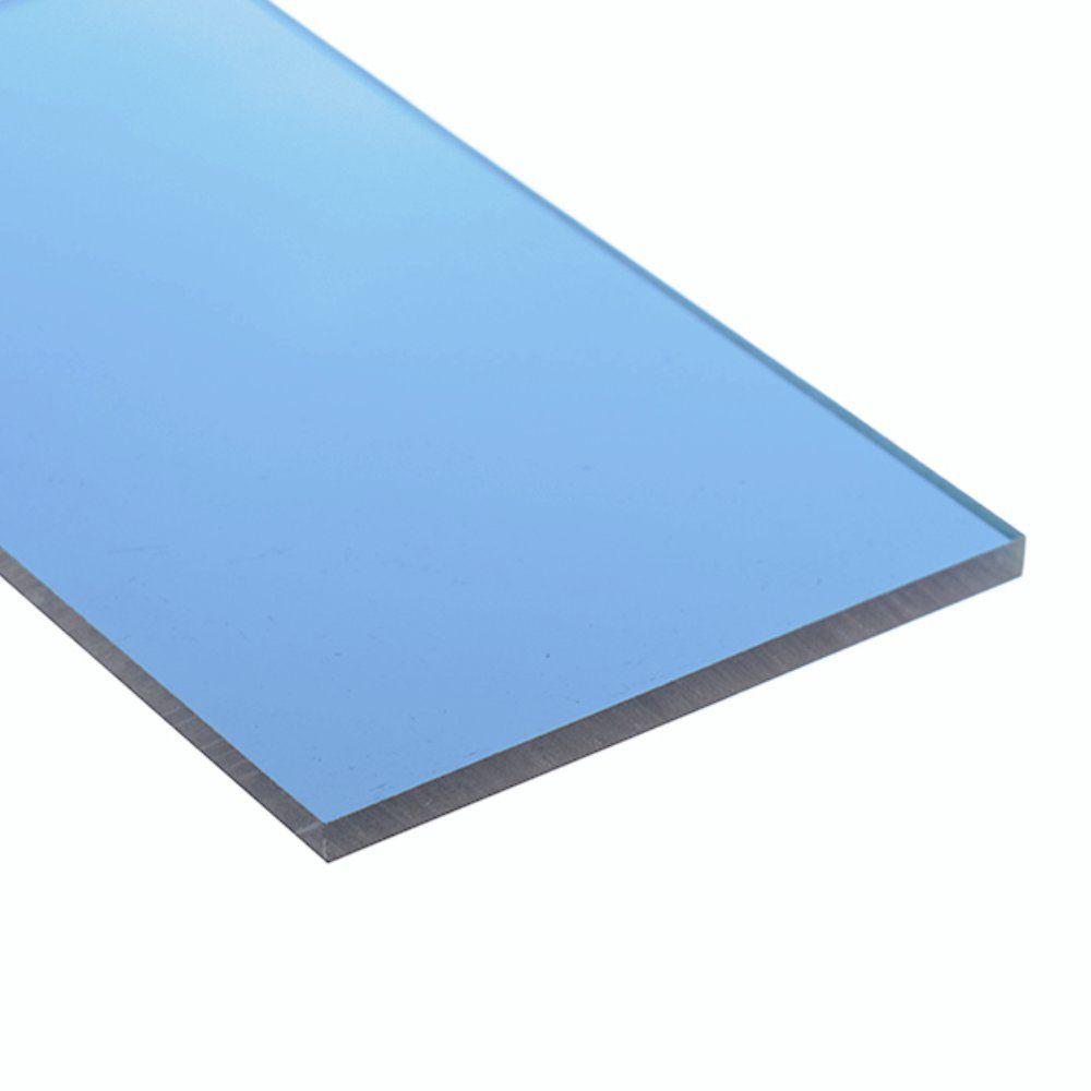 Chapa policarbonato compacto azul 2mmx2000mmx3000mm