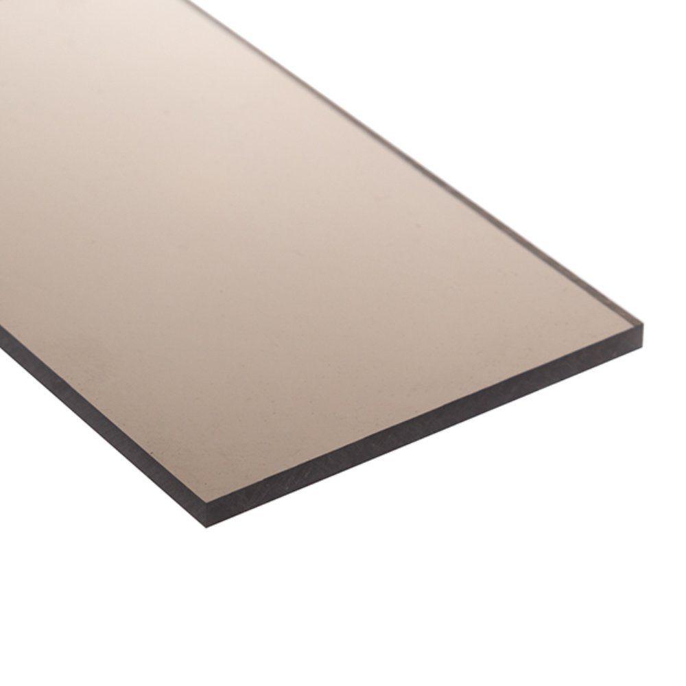 Chapa policarbonato compacto bronze 3mmx2000mmx3000mm