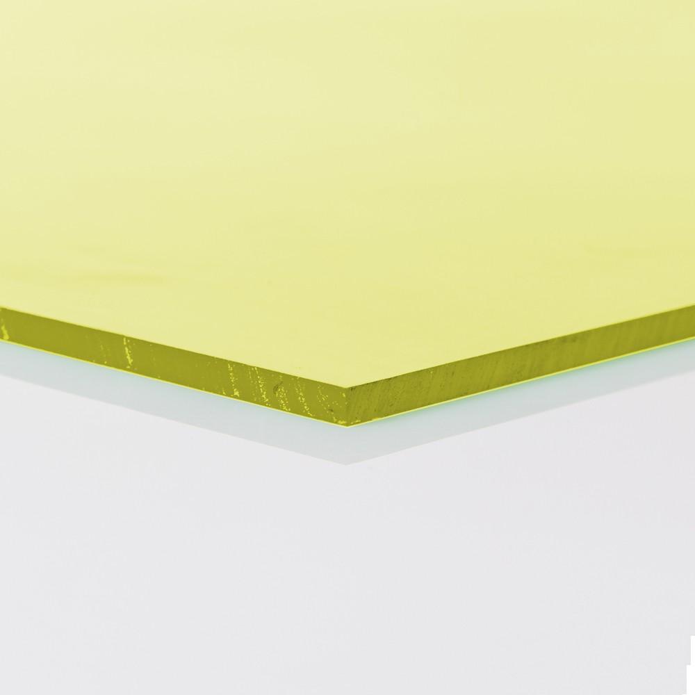 Chapa Poliuretano Amarelo 70/75 SH A 8mmx500mmx1000mm