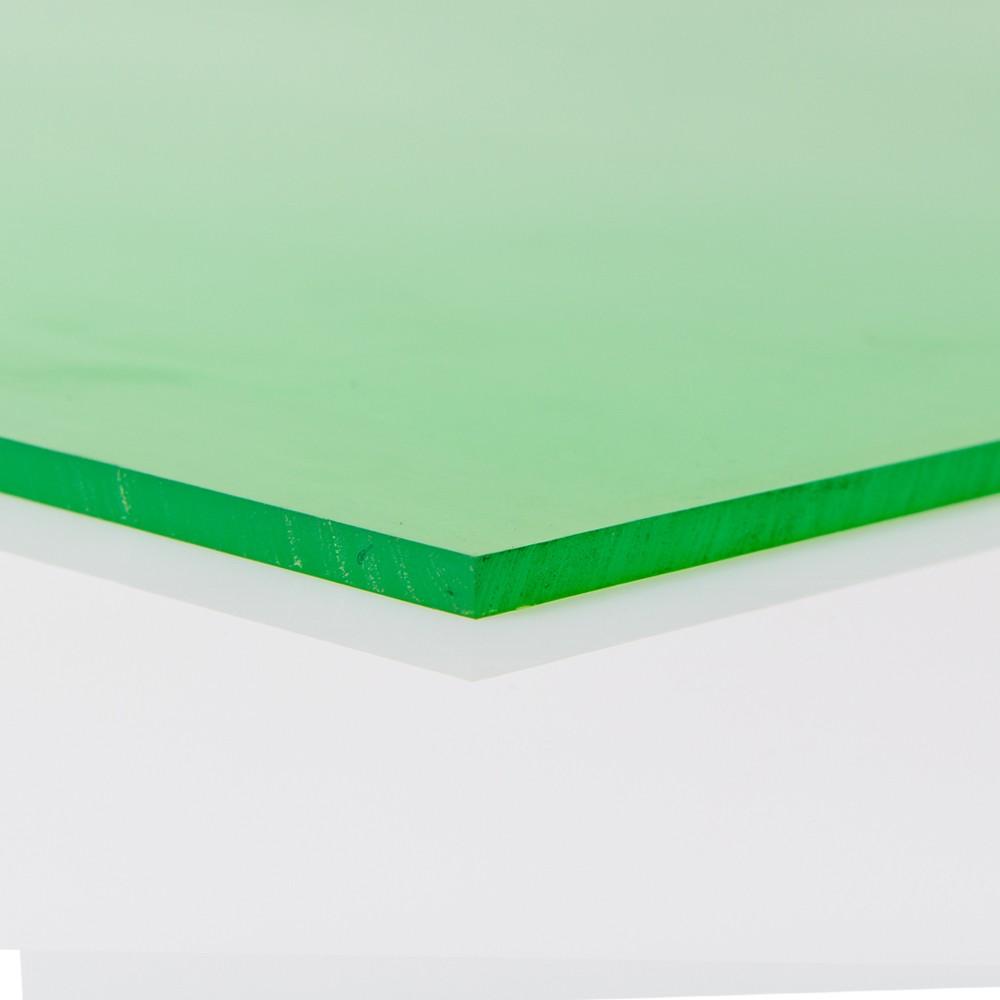 Chapa Poliuretano Verde 80/85 SH A 9mmx500mmx1000mm