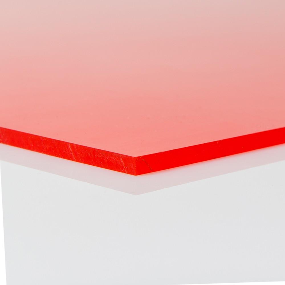 Chapa Poliuretano Vermelho 90/95SH A 10mmx500mmx1000mm