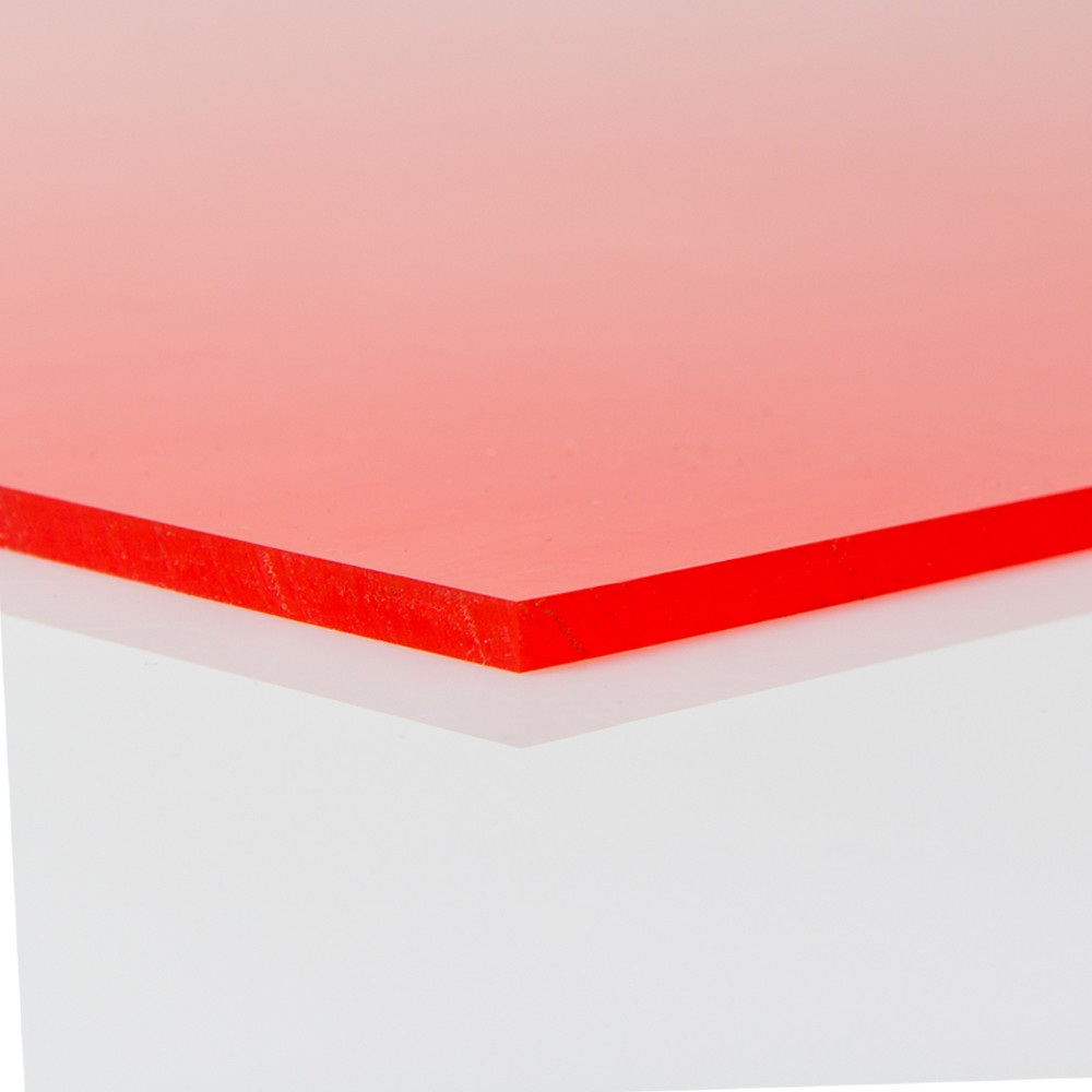 Chapa Poliuretano Vermelho 90/95SH A 6mmx1000mmx1000mm