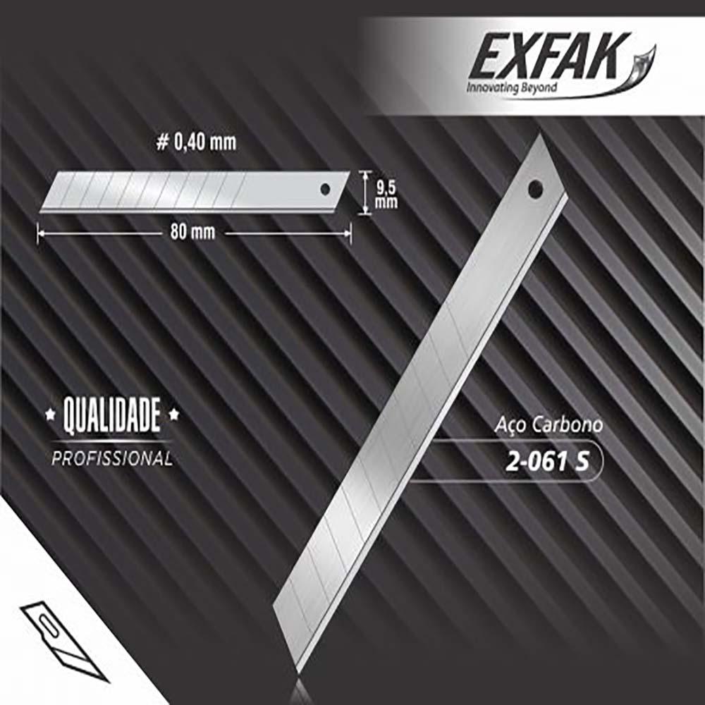 Lâmina exfak  p/ estilete aco carbono semi profissional 2-061 s-pro