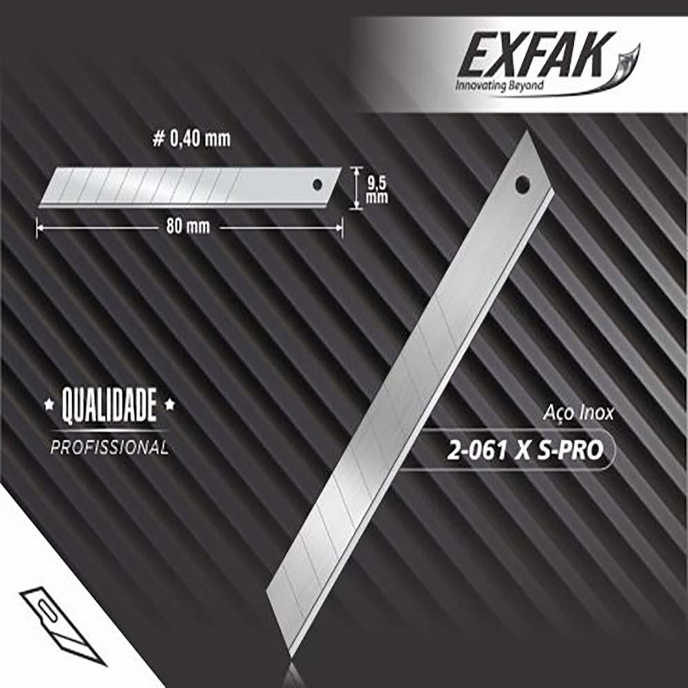 Lamina exfak p/ estilete  aco carbono semi profissional 2-061 x s-pro