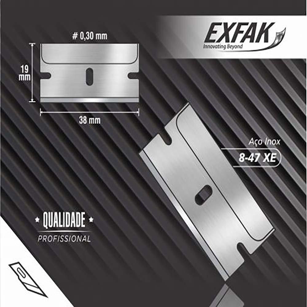 Lâmina exfak  p/ raspar vidro carbono hobby 8-47c12d