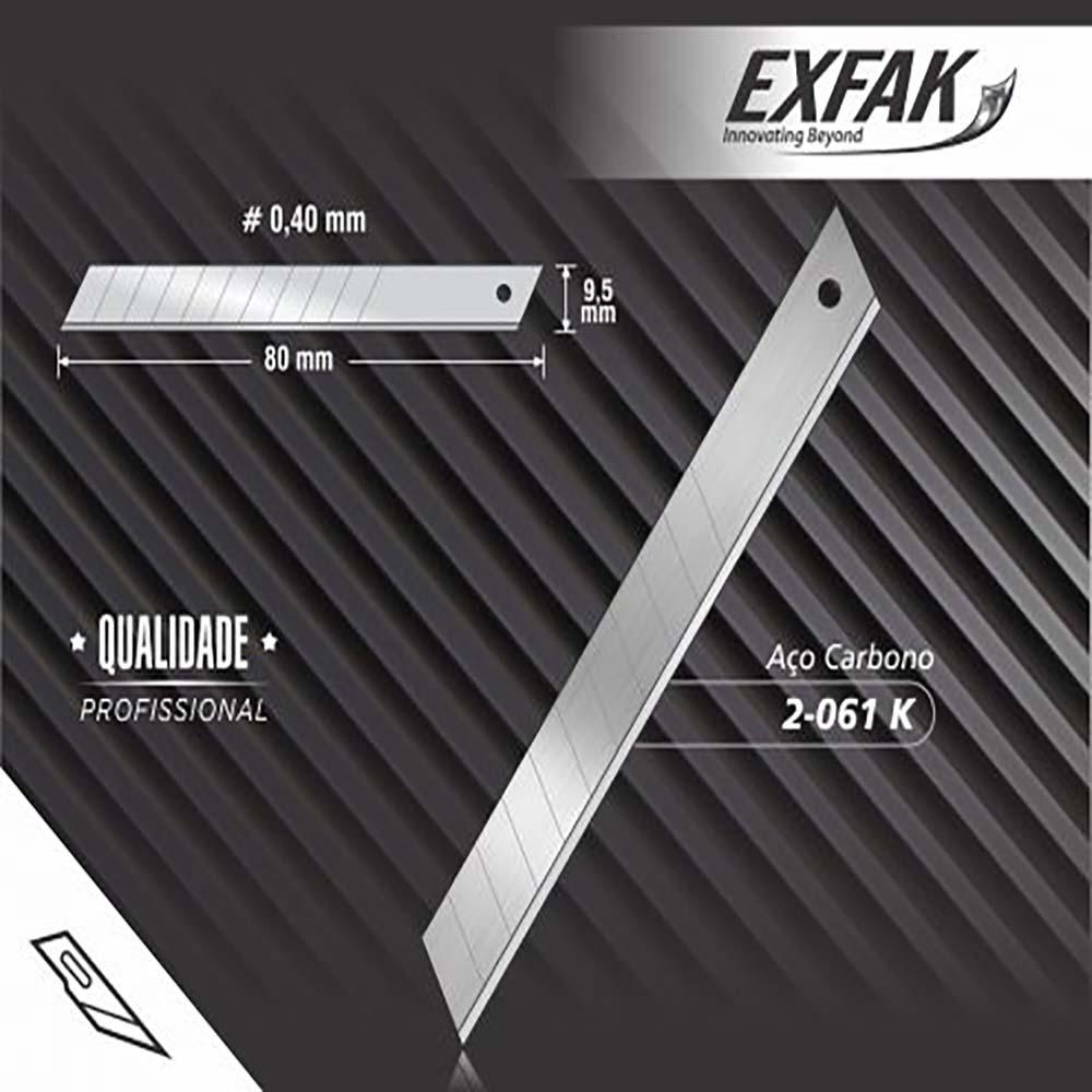 Lâmina exfak  para estilete aco carbono profissional 2-061k