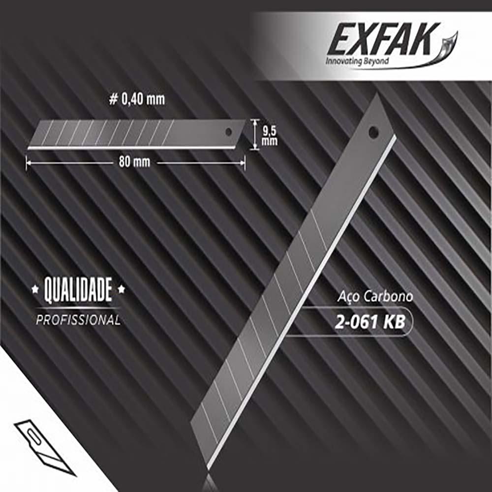 Lâmina exfak  para estilete aco carbono profissional 2-061kb