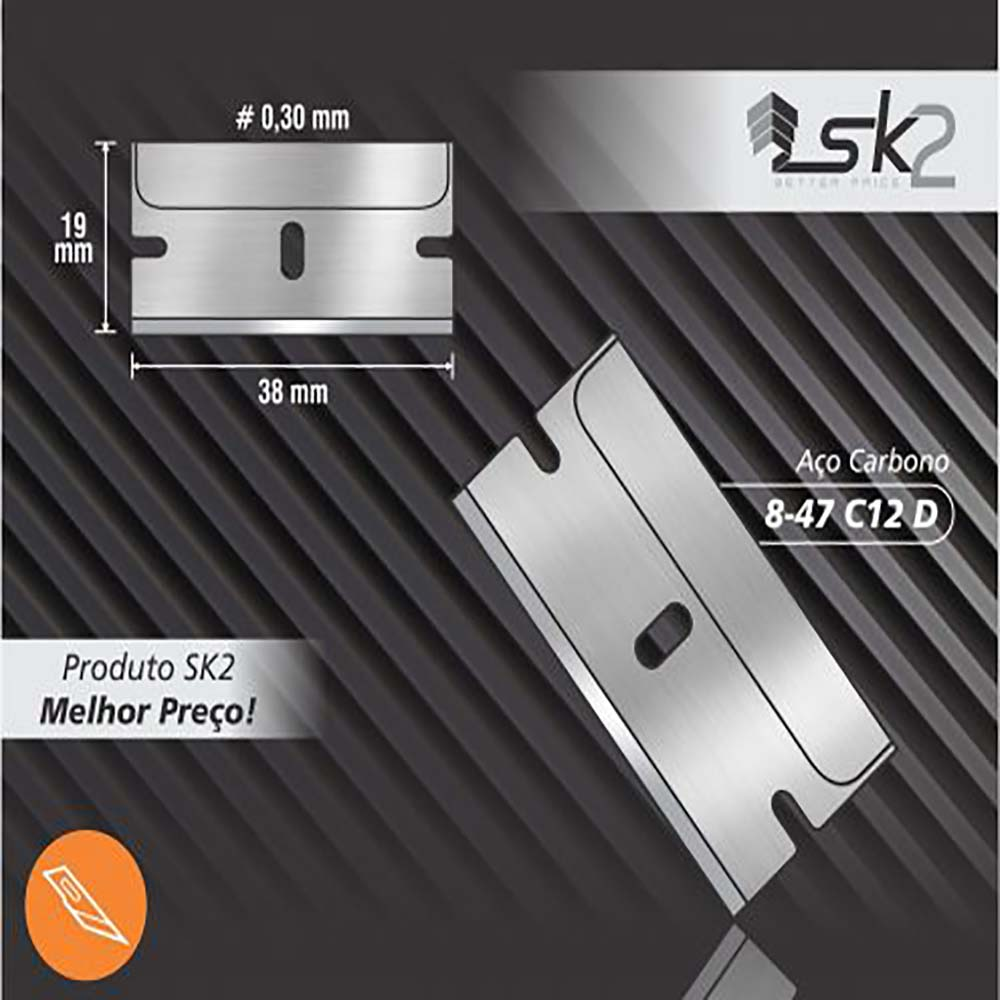 Lamina p/ raspar vidro carbono 8-47c12 -exfak