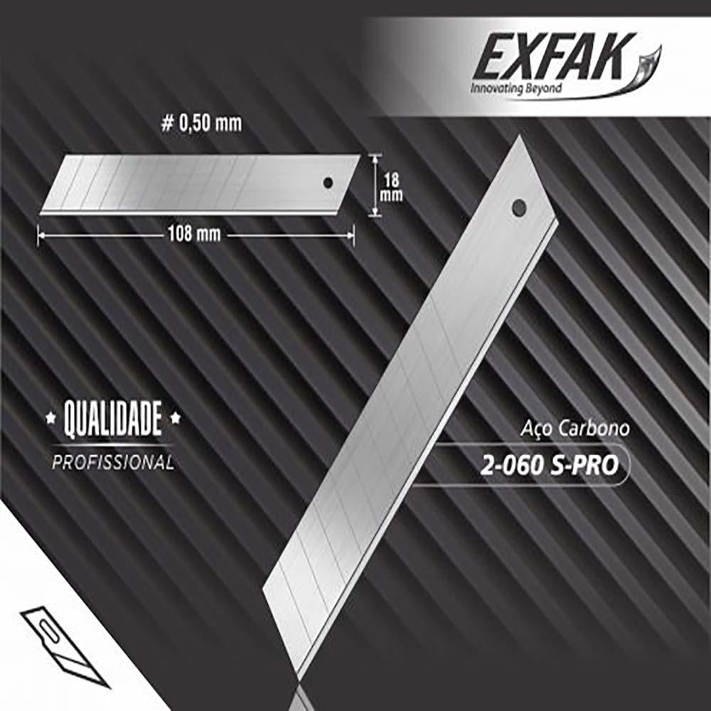 Lamina para estilete aço carbono 2-060 s-pro -exfak