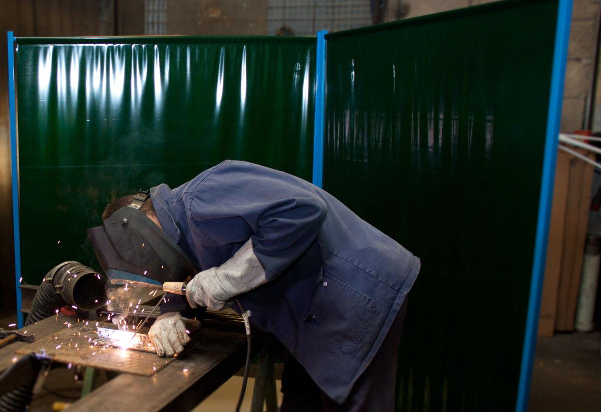 Painel Pvc de Solda Verde 1400mmx0,4mmx1800mm