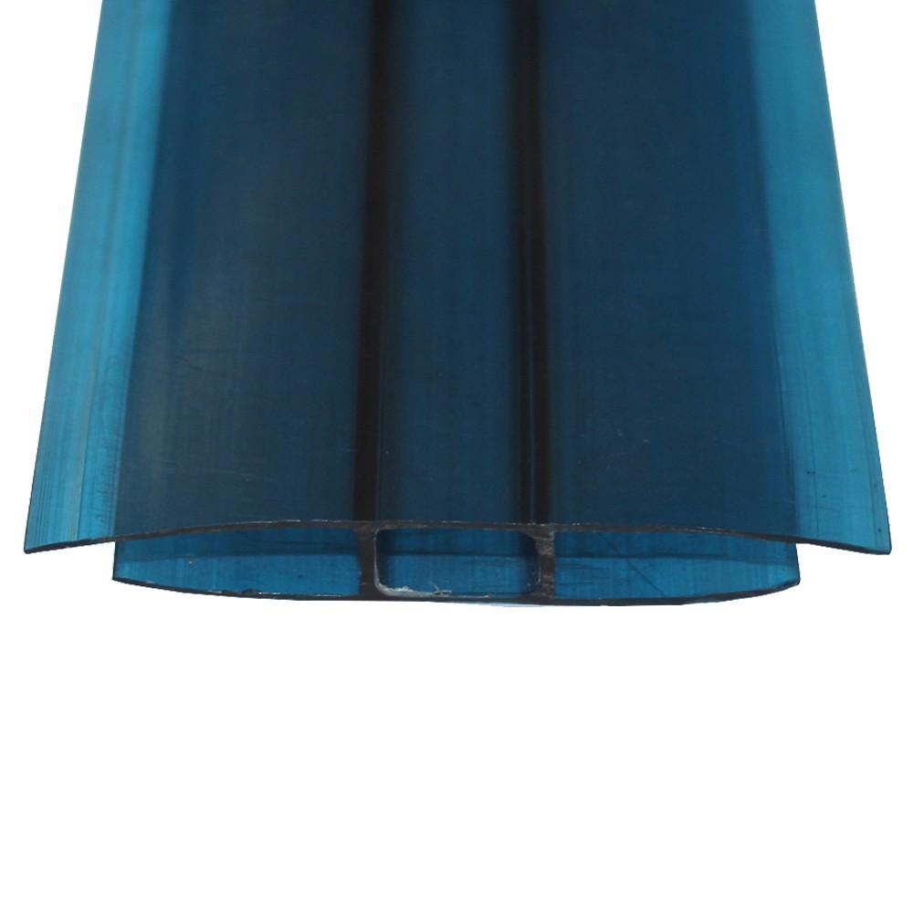 Perfil H Policarbonato Azul 4mmx6mts