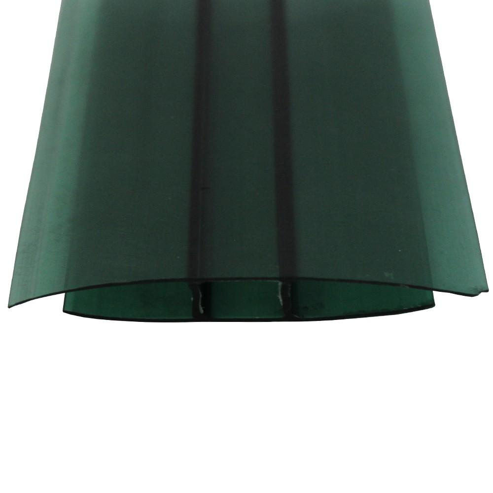 Perfil H Policarbonato Verde 4mmx6mts