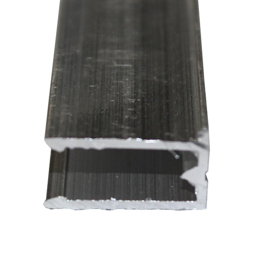 Perfil U de Alumínio Natural 4mmx6mts