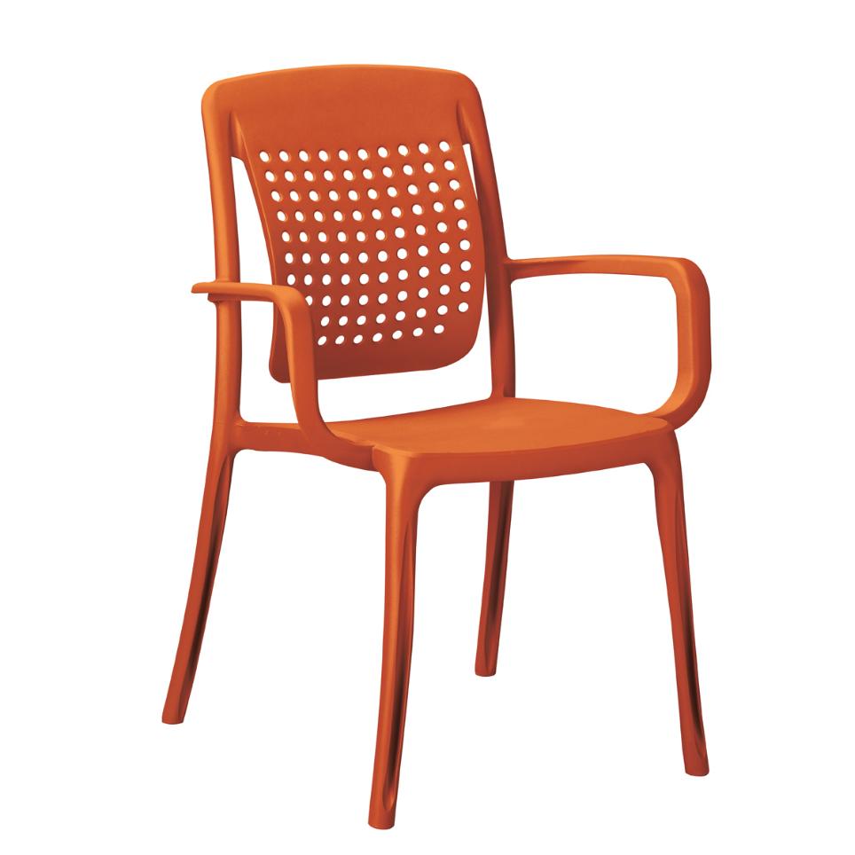 Poltrona factory laranja grosfillex (pct 18 unidades)