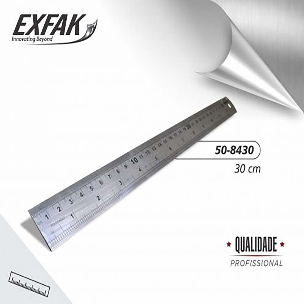 Régua aço 30cm 50-8430 -exfak
