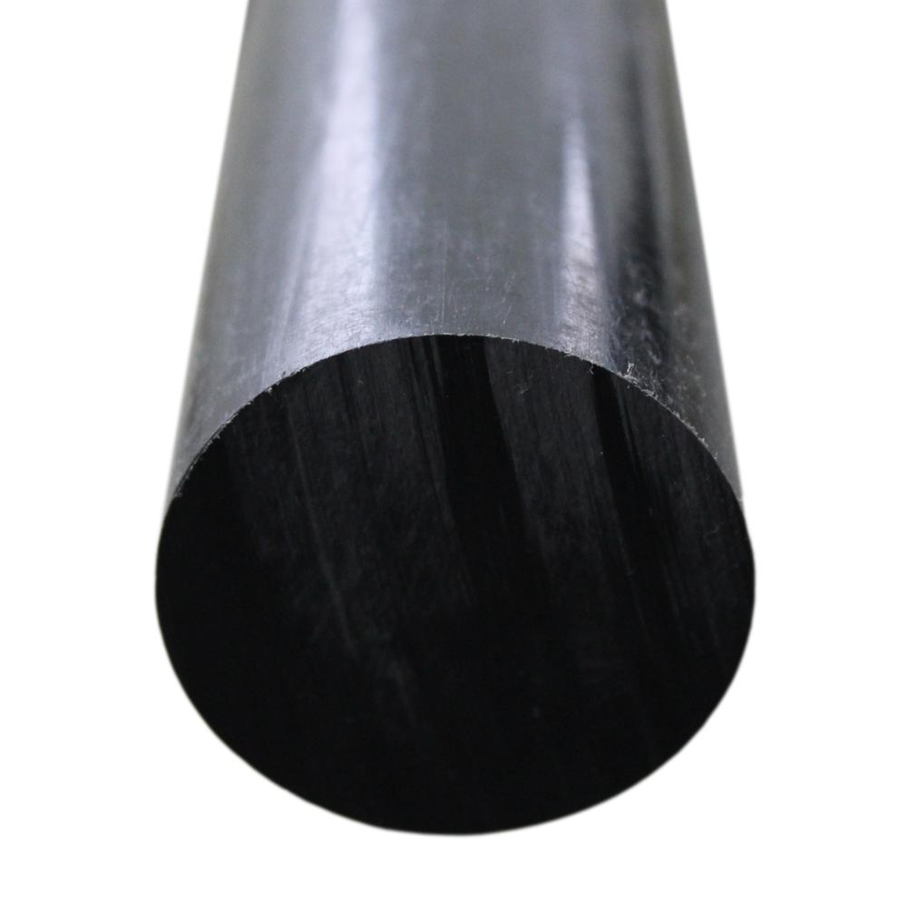 Tarugo Polietileno Preto 20mmx1000mm