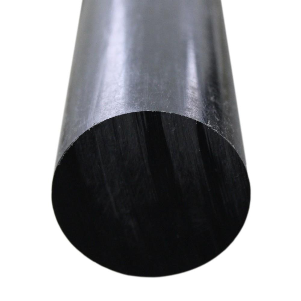 Tarugo Polietileno Preto 25mmx1000mm