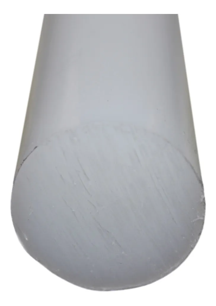Tarugo Polipropileno Cinza 55mmx1000mm